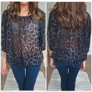 The limited size xs animal print sheer blouse ❤️